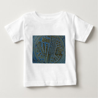 inverted man hole cover baby T-Shirt