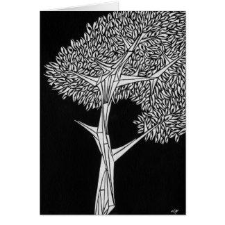 Inverted Oak Tree Greeting Card