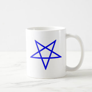 Inverted pentagram basic white mug