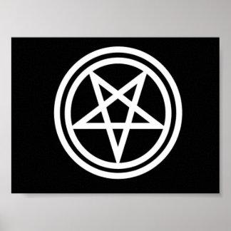 Inverted pentagram print