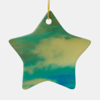 Inverted Photo Ceramic Star Decoration
