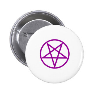 Inverted Purple Pentagram Gear 6 Cm Round Badge