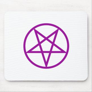 Inverted Purple Pentagram Gear Mouse Pad