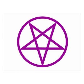Inverted Purple Pentagram Gear Postcard