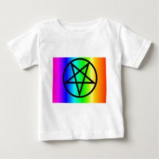 Inverted rainbow pentagram 2 gear tees