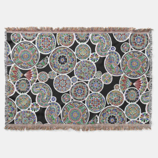 Inverted Royal Mandalas Throw Blanket