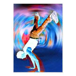 Inverted Street Dancing! 13 Cm X 18 Cm Invitation Card