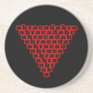 Inverted Triangle Abracadabra Drink Coasters