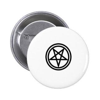 invertedpentagram,w 6 cm round badge