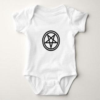 invertedpentagram,w baby bodysuit