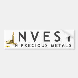 Invest in Precious Metals 1 - plain Bumper Sticker