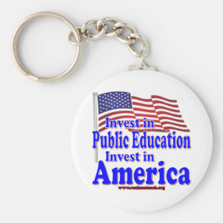 Invest in Public Education Keychains