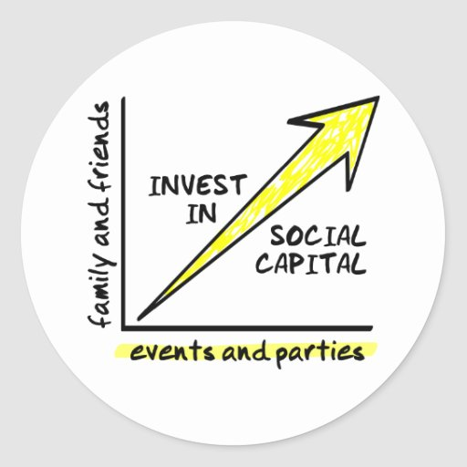 INVEST IN SOCIAL CAPITAL ROUND STICKER