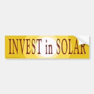 Invest in Solar Bumper Sticker Car Bumper Sticker