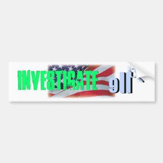 investigate 911 bumper sticker