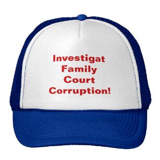 InvestigatFamilyCourt Corruption Mesh Hats