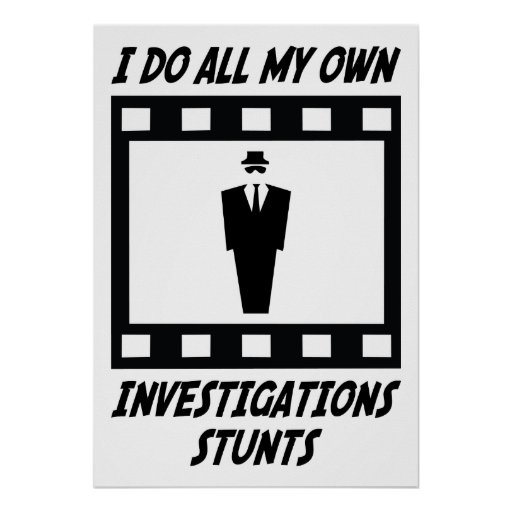 Investigations Stunts Poster