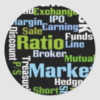 Investing Terms Round Sticker