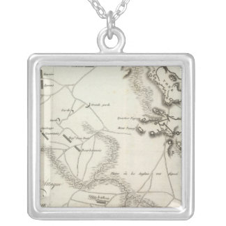 Investment and Attack of York in Virginia Silver Plated Necklace
