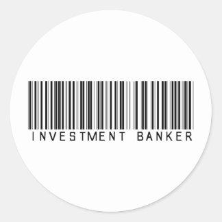 Investment Banker Bar Code Round Sticker