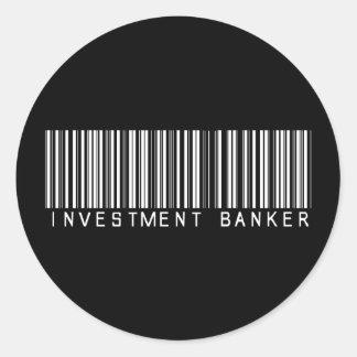 Investment Banker Bar Code Sticker