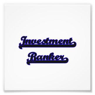 Investment Banker Classic Job Design Photo Art