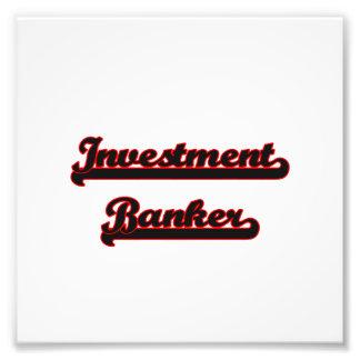 Investment Banker Classic Job Design Photograph