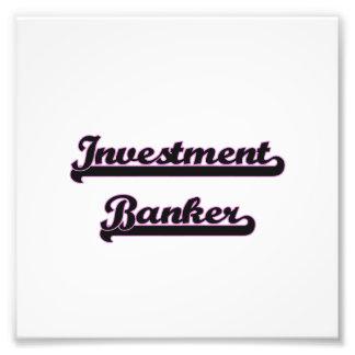 Investment Banker Classic Job Design Art Photo