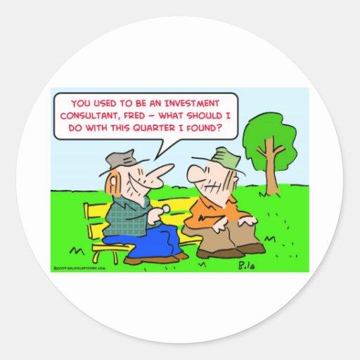 investment consultant quarter sticker