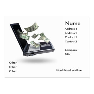 Investments Large Business Cards (Pack Of 100)