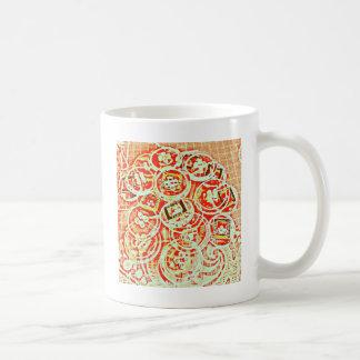 Invisible Button Collage Design Coffee Mugs