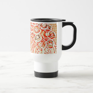 Invisible Button Collage Design Mug