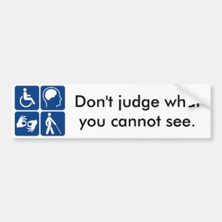 Invisible Disability Bumper Sticker