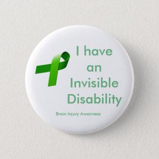 Invisible Disablility 6 Cm Round Badge