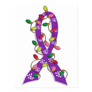 Invisible Illness Christmas Lights Ribbon Postcard