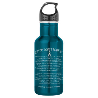 Invisible Illness Facts - water bottle 532 Ml Water Bottle