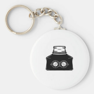 Invisible Ink Bottle Basic Round Button Key Ring