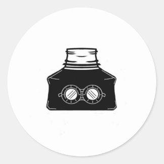 Invisible Ink Bottle Round Sticker