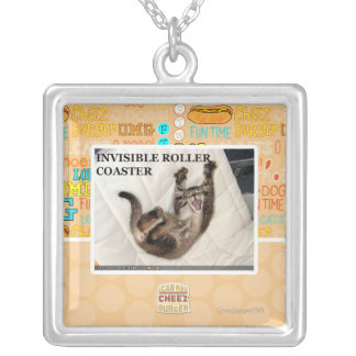 Invisible Roller Coaster Silver Plated Necklace