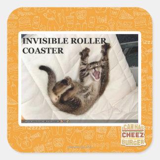 Invisible Roller Coaster Square Sticker