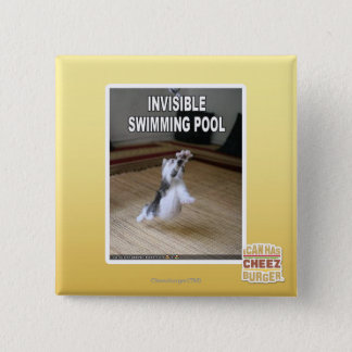 Invisible Swimming Pool 15 Cm Square Badge