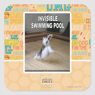 Invisible Swimming Pool Square Sticker