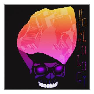 InvisiCube Rainbow Skull Poster