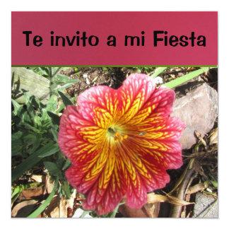 Invitación - Te invito a mi Fiesta 13 Cm X 13 Cm Square Invitation Card