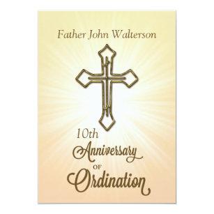 Ordination invitations announcements zazzle invitation 10th anniversary of ordination invitation stopboris Images