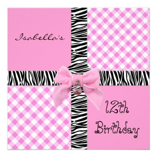 12th Birthday Invitations