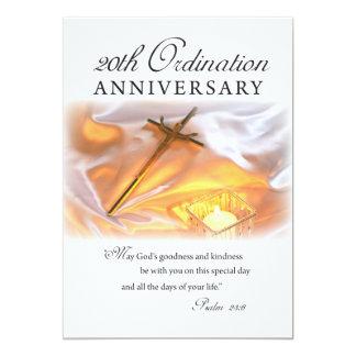 Invitation 20th Ordination Anniversary, Cross Can