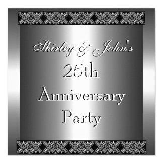 Invitation 25th Wedding Anniversary Party Silver