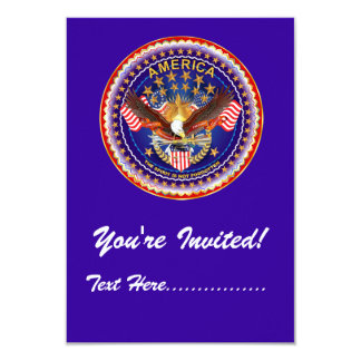 "Invitation 3.5"" x 5"" America not forgotten...."