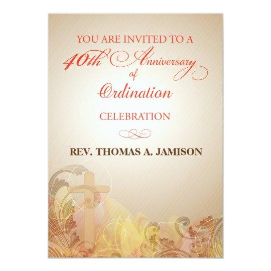 Invitation, 40th Anniversary of Ordination Blessin Card